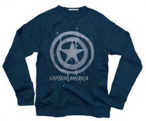 Steve Rogers Junk Food Captain America Tried & True Crewneck Fleece Sweatshirt