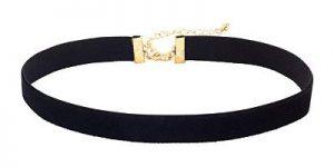 Karen Gillan Black Velvet Choker Necklace with Gold Plating