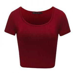 Karen Gillan Stretchy Casual Scoop Neck Cap Sleeve Shirt
