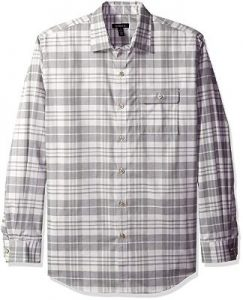 Jack Black Van Heusen Long Sleeve Heathered Plaid Shirt