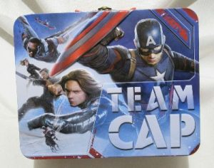 Team Cap Team Stark Metal Lunch Box Steven Rogers