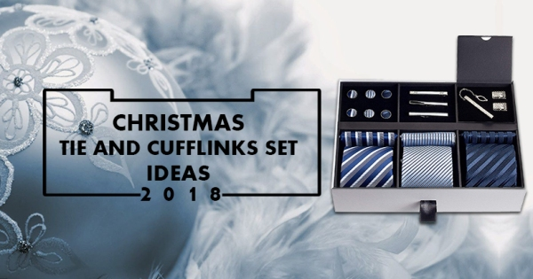 Christmas Tie and Cufflinks