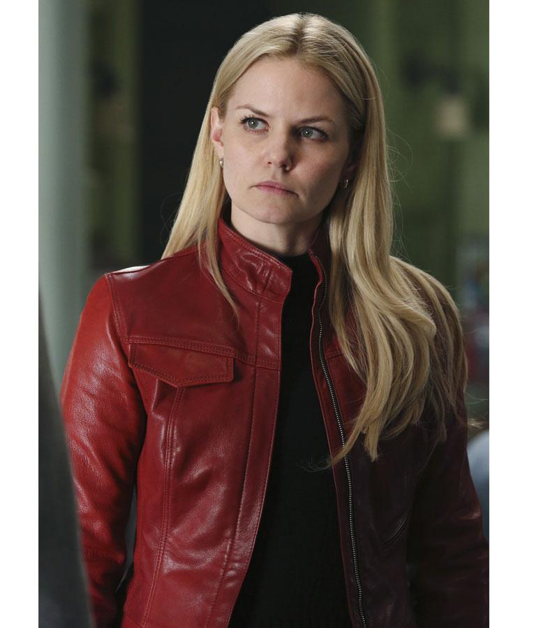 Jennifer-Morrison-Once-Upon-A-Time-Red-Leather-Jacket