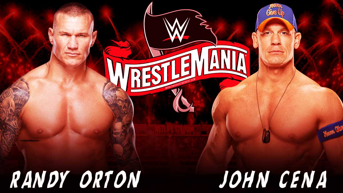 John Cena and Randy Orton in the ring