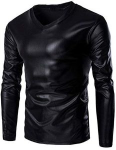 Leather Hip Hop pollover Hoodie