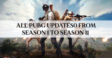 PUBG Updates All PUBG updates from season 1 to season 11