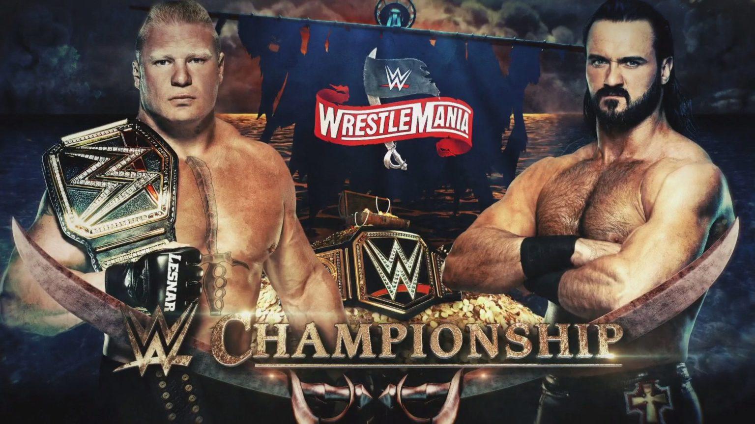 Drew McIntyre and Brock Lesnar