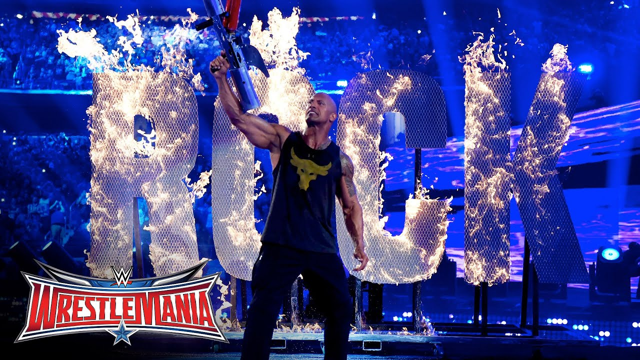 Is WWE WrestleMania 2020 featuring The Rock