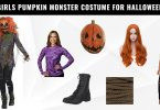 Girls Pumpkin Monster Costume for Halloween