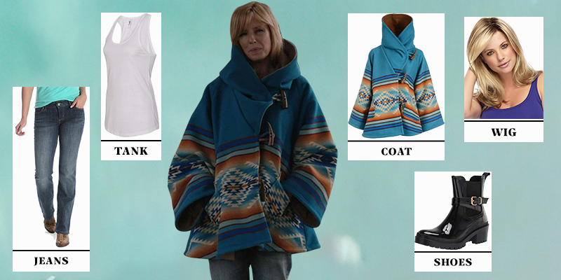 Yellowstone Beth Dutton Blue Hooded Coat