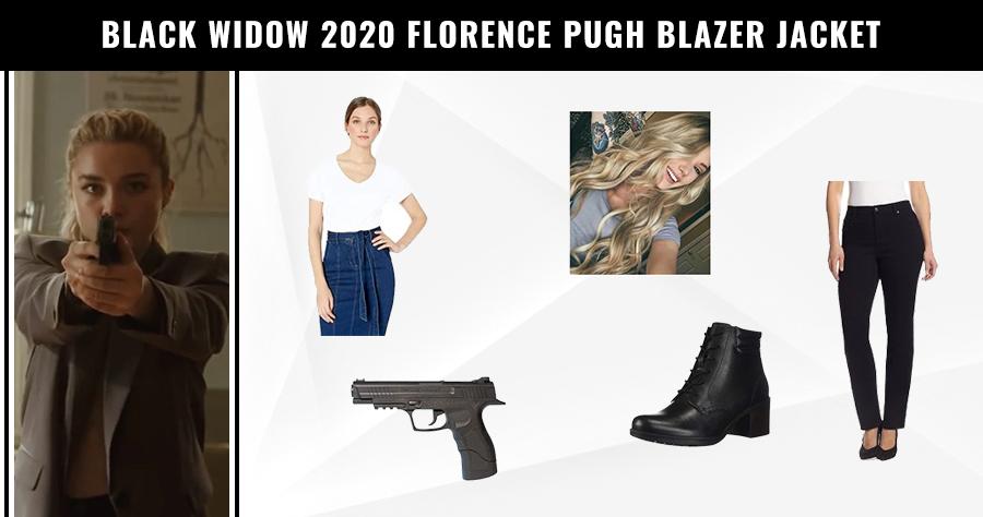 Black Widow 2020 Florence Pugh Blazer Jacket
