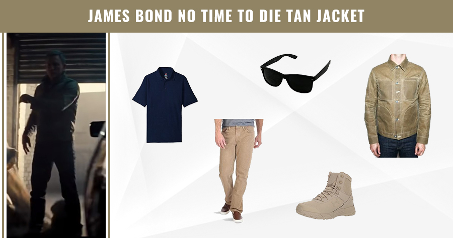 James Bond No Time to Die Tan Jacket