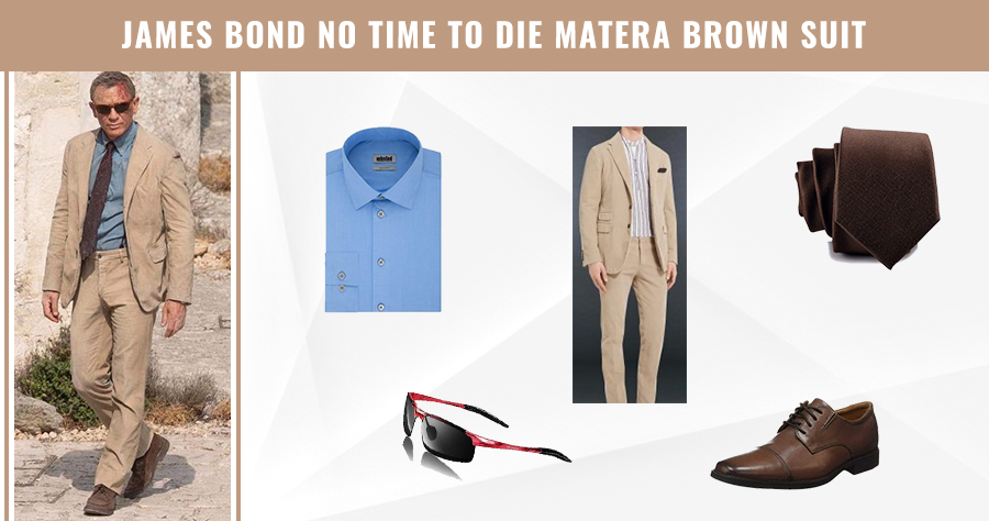 JamesBond No Time to Die Matera Brown Suit