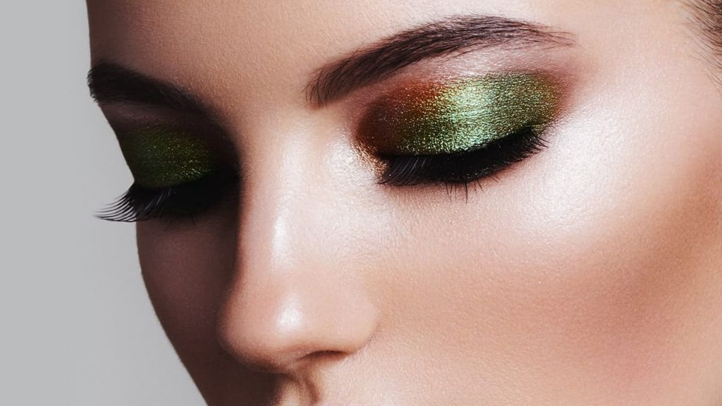 Shimmery Look