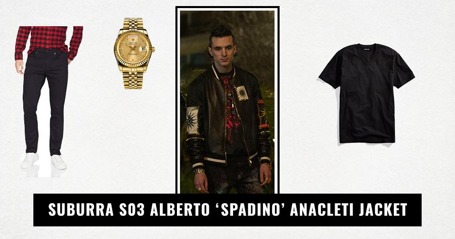 Suburra S03 Alberto 'Spadino' Anacleti Jacket