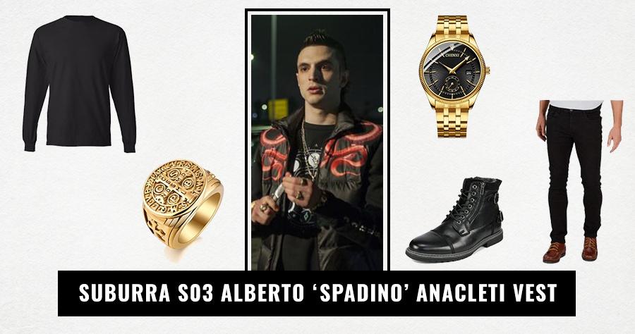 Suburra S03 Alberto 'Spadino' Anacleti Vest
