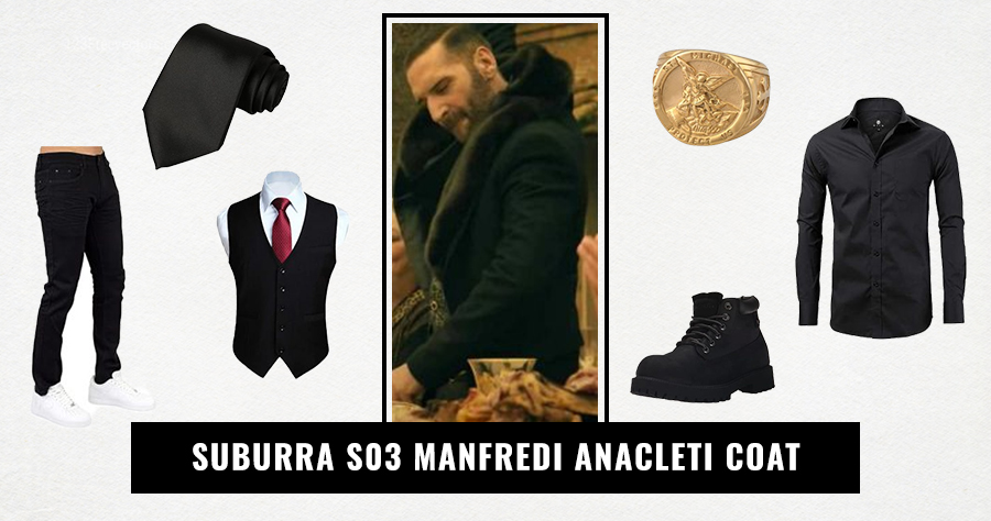 Suburra S03 Manfredi Anacleti Coat