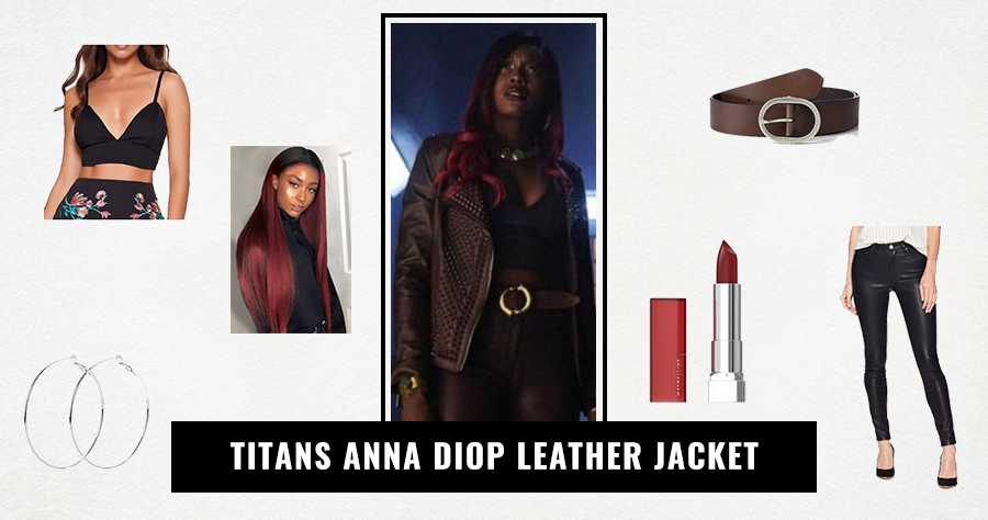 Titans Anna Diop Leather Jacket
