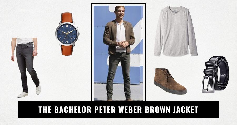 The Bachelor Peter Weber Brown Jacket
