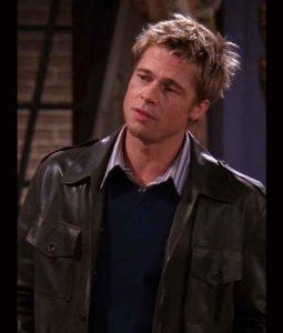 Brad-Pitt-FRIENDS-Season-08-Dark-Brown-Leather-Jacket