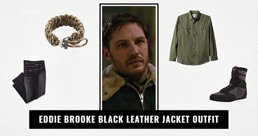 Eddie Brooke Black Leather Jacket Outfit