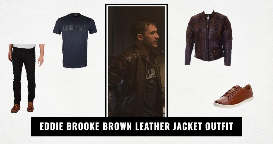 Eddie Brooke Brown Leather Jacket Outfit