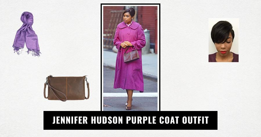 Jennifer Hudson Purple Coat Outfit