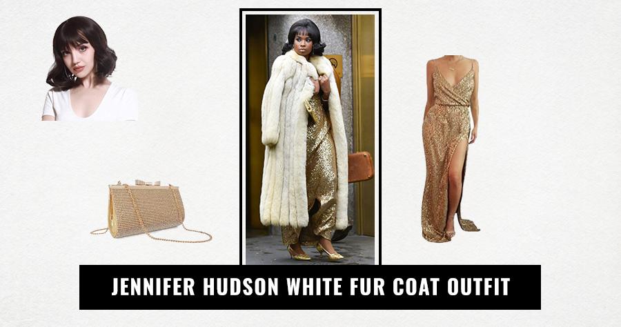 Jennifer Hudson White Fur Coat Outfit