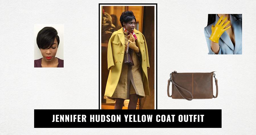 Jennifer Hudson Yellow Coat Outfit