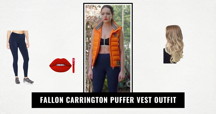 Fallon Carrington Puffer Vest Outfit