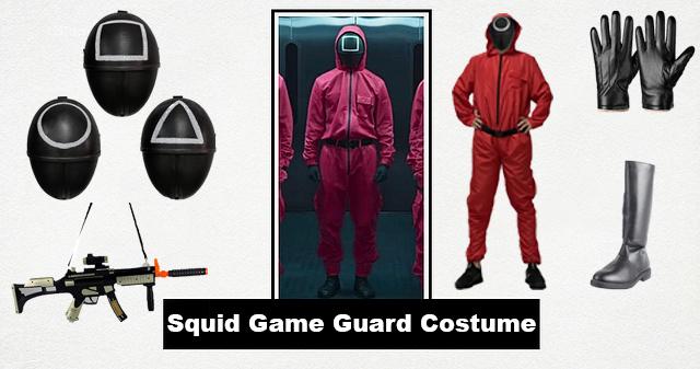 Squid Game Guard Costume