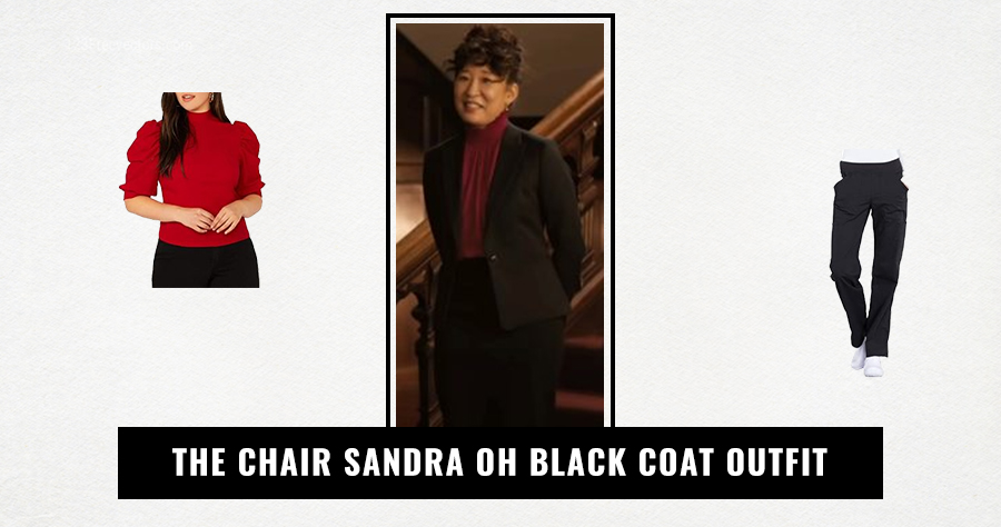 The Chair Sandra Oh Black Coat Outfit