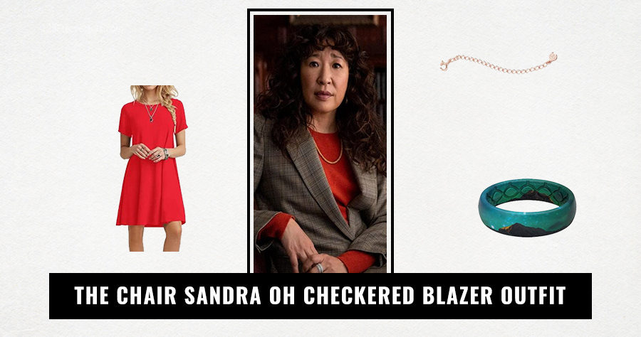 The Chair Sandra Oh Checkered Blazer Outfit