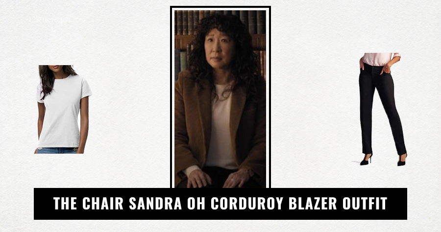 The Chair Sandra Oh Corduroy Blazer Outfit