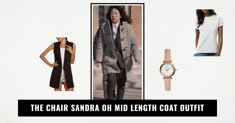 The Chair Sandra Oh Mid Length Coat Outfit