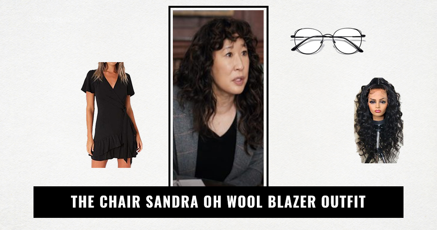 The Chair Sandra Oh Wool Blazer Outfit