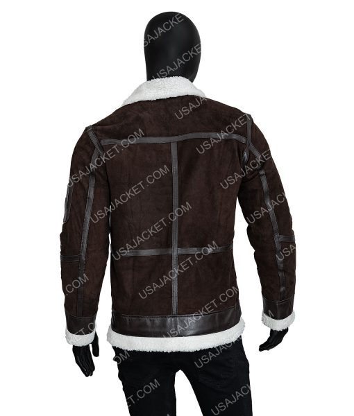 50 Cents Brown Shearling Leather Jacket