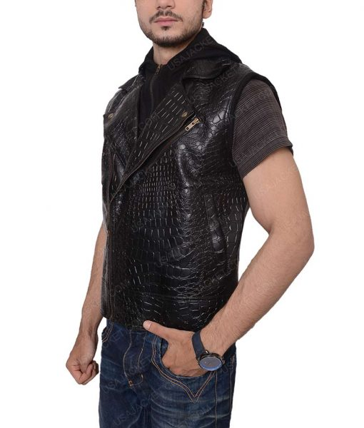 TNA AJ Style Black Leather Jacket