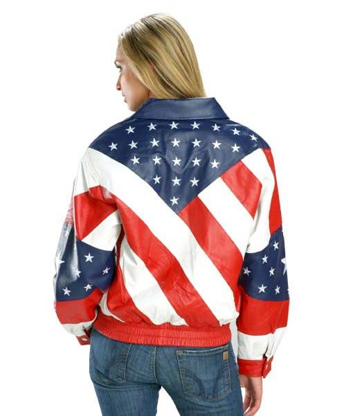 American Flag Womens Jacket