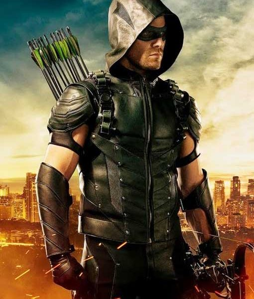 Green Arrow Hooded Vest