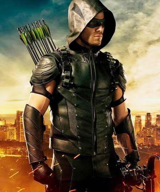 Lucifer Season 4 Cw: Stephen Amell Green Arrow Vest