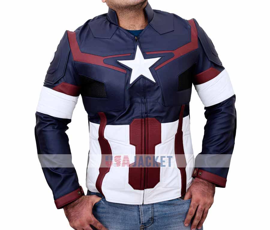 f0ae7f7fa2847 Avengers Age Of Ultron Captain America Jacket