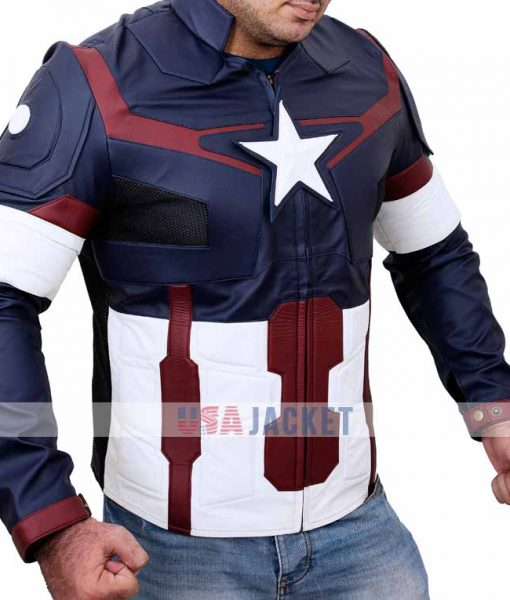 Captain America Ultron Leather Jacket