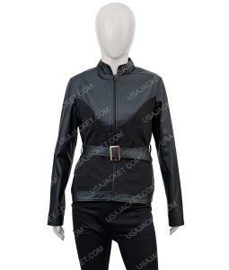 Avengers Age of Ultron Black Widow Black Leather Jacket