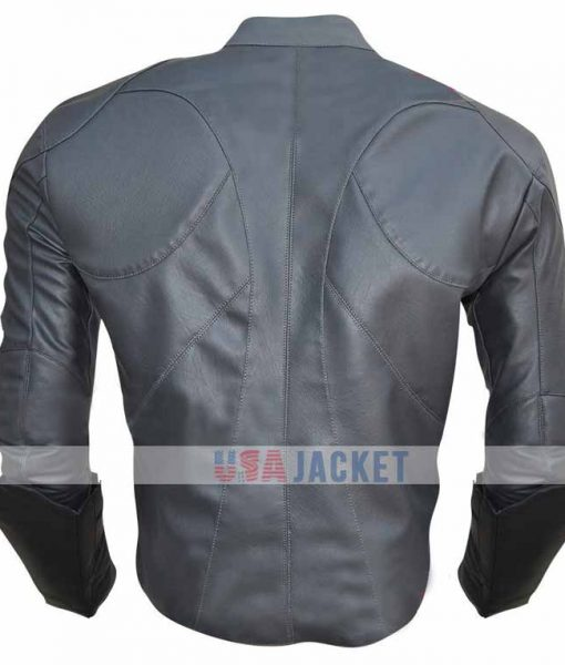 Batman Grey Arkham Knight Leather Jacket
