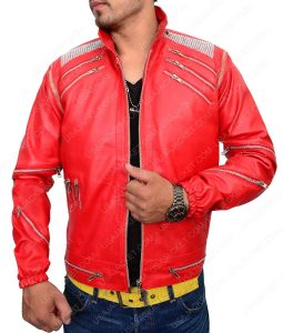 MJ Red Leather Jacket