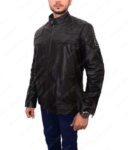 David Beckham Biker Leather Jacket