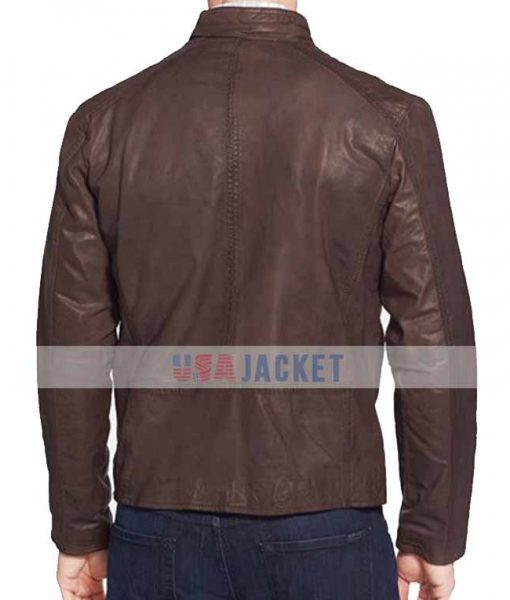 Civil War Brown Leather Jacket