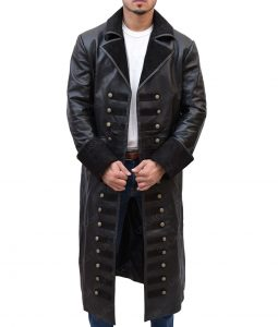Captain Hook Once Upon A Time Colin O'Donoghue Black Leather Coat