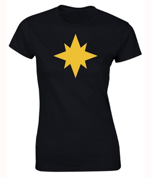 Captain-Marvel-Black-T-Shirt